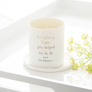 'Everything I Am' Personalised Glow Through Candle - home accessories