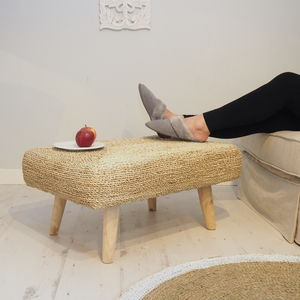 Luxury Wicker Ottoman - footstools & pouffes