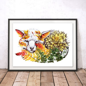 Finlay The Floral Fox Fine Art Print