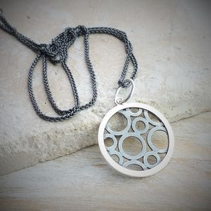 Circles Within A Circle Charm And Necklace - men's jewellery