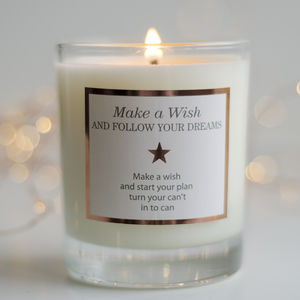 ' Make A Wish And Follow Your Dreams' Candle - christmas home accessories