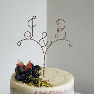 Personalised Arrow Initial Wire Wedding Cake Topper - cake toppers & decorations