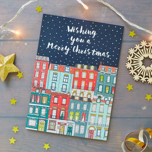 Townhouses Christmas Card Pack - cards & wrap