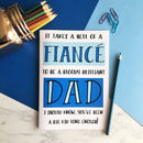 Funny Father's Day A5 Card For Fiancé