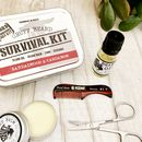 Beard Survival Kit, Beard Balm, Oil, Scissors, Comb
