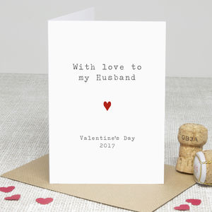 'Husband Love' Valentine's Day Card - cards & wrap