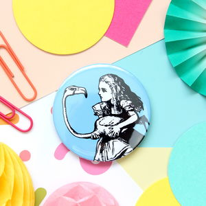 Alice Badge, Pocket Mirror Or Keyring