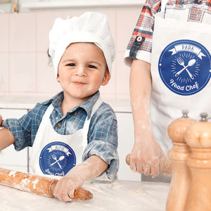 Personalised Daddy And Child Apron Set - baking