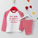 Personalised Dear Santa Christmas Pyjamas