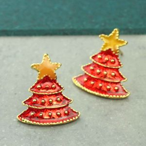 Christmas Tree Stud Earrings - christmas jewellery