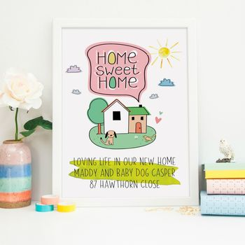 New Home Gift Print Fun And Cool With A Dog