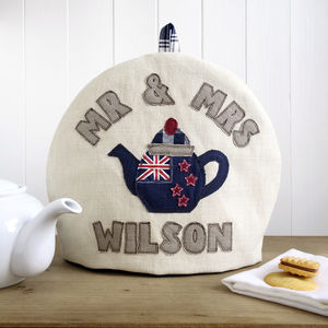 Personalised New Zealand Flag Tea Cosy