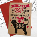 Personalised Valentine's Day Card With Any Dog Breed