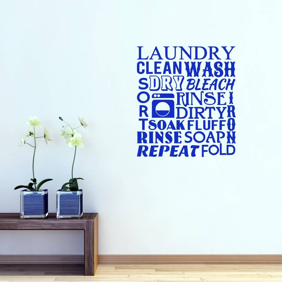 Laundry Room Word Cloud Wall Sticker Part 68