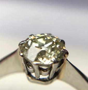 Antique 18ct Solitaire 0.5ct Diamond Engagement Ring