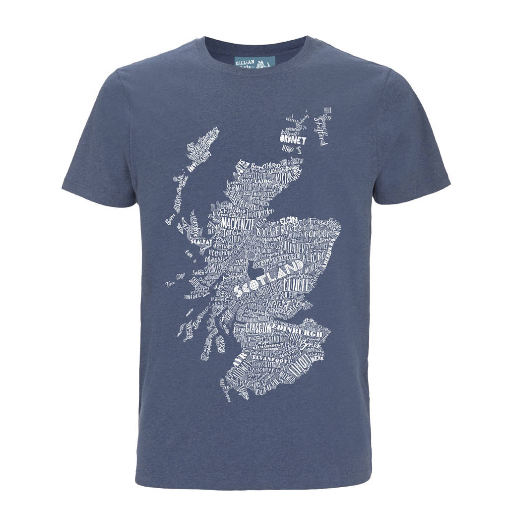b9bbba7beb834 men s scottish map illustrated t shirt by gillian kyle gift   home ...