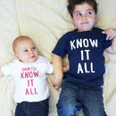 Know It All Sibling Children's T Shirt Set