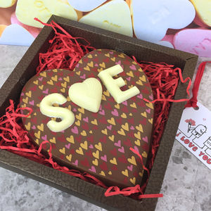 Personalised Milk Chocolate Heart Valentines Day Gift