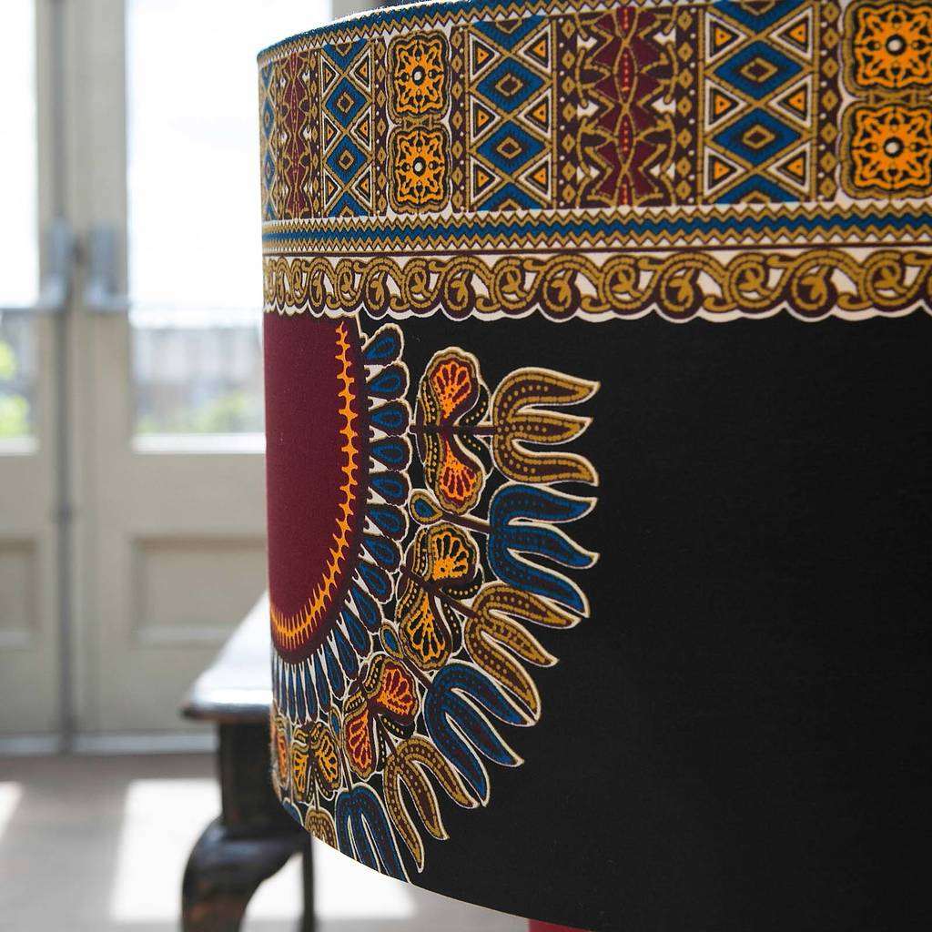 Yaw african pattern lampshade by copper dust notonthehighstreet yaw african pattern lampshade aloadofball Choice Image