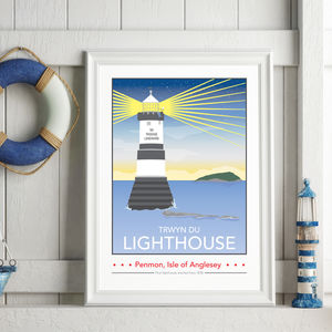 Penmon Lighthouse, Isle Of Anglesey Print - what's new
