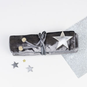 Velvet Star Jewellery Roll - bedroom