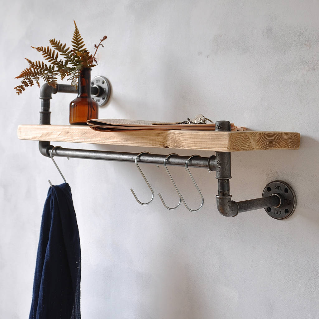New York Industrial Pipe Shelf By Industrial By Design