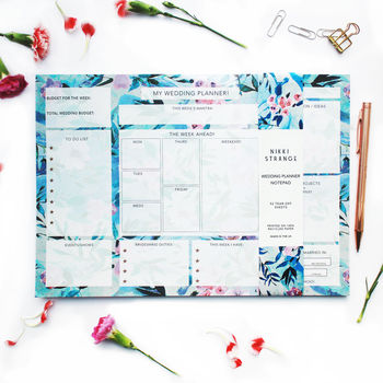 A4 Floral Bride's Wedding Planner