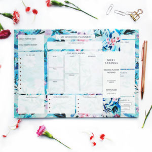 A4 Floral Bride's Wedding Planner - engagement gifts