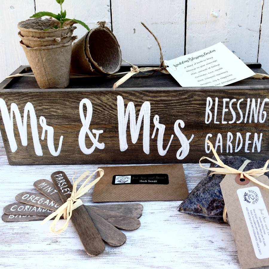 personalised wedding/anniversary/engagement gift by potting shed ...