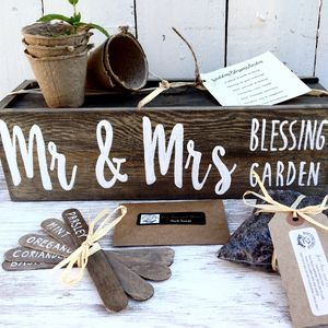 Personalised Wedding Planter With Herb Seeds - keepsakes