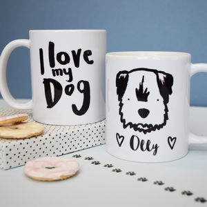 I Love My Dog Personalised Breed Mug