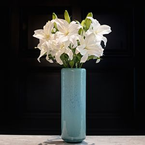 Imitation White Casablanca Lily Stem - home accessories