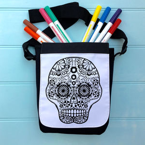 Skull Colour Me In iPad Case