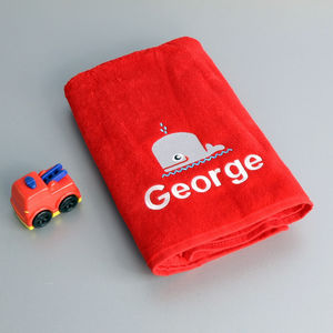 Personalised Red Swimming Towel - baby & child sale