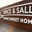 Personalised 'Home Sweet Home' Wooden Sign
