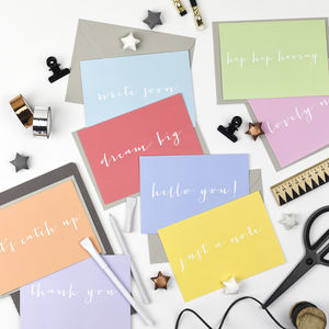 Pack Of Eight Notecards