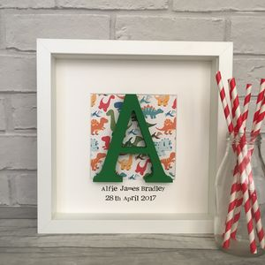 Personalised Boys Wooden Letter Box Frame