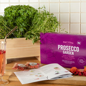Personalised Prosecco Garden Cocktail Kit - gifts for her