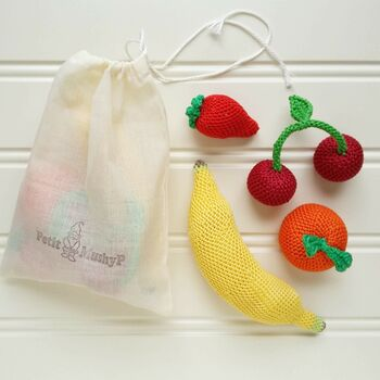 Crocheted Fruits Play Pretend Set