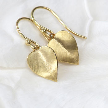 Leaf Earrings In 18ct Gold