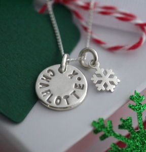 Personalised Snowflake Necklace - necklaces & pendants