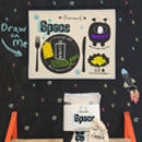 Kids Chalkboard Placemat Space Design