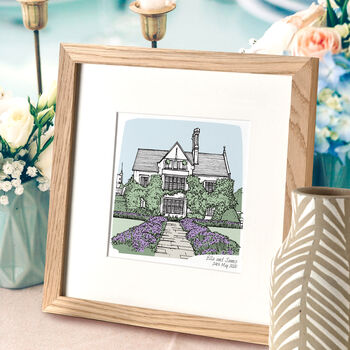 Personalised Wedding Venue Portrait