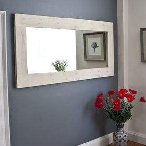 Kawena Wooden Mirror White Washed Or Dark Stained - mirrors