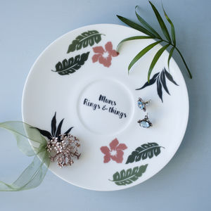 Hand Decorated China Jewellery Saucer