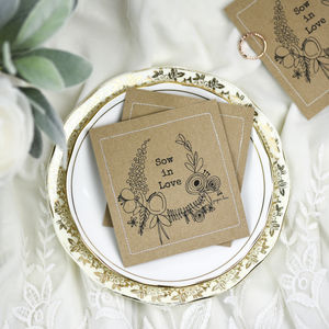 Wild Flower Wedding Seed Favours