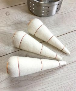 Set Of Three Pretend Play Felt Food Parsnips