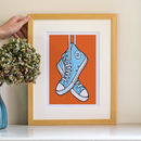 Personalised Baseball Boot Print