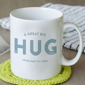 Personalised Hug From Me To You Mug - gifts for him