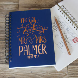 Personalised Wedding Gift Memory Book - notebooks & journals